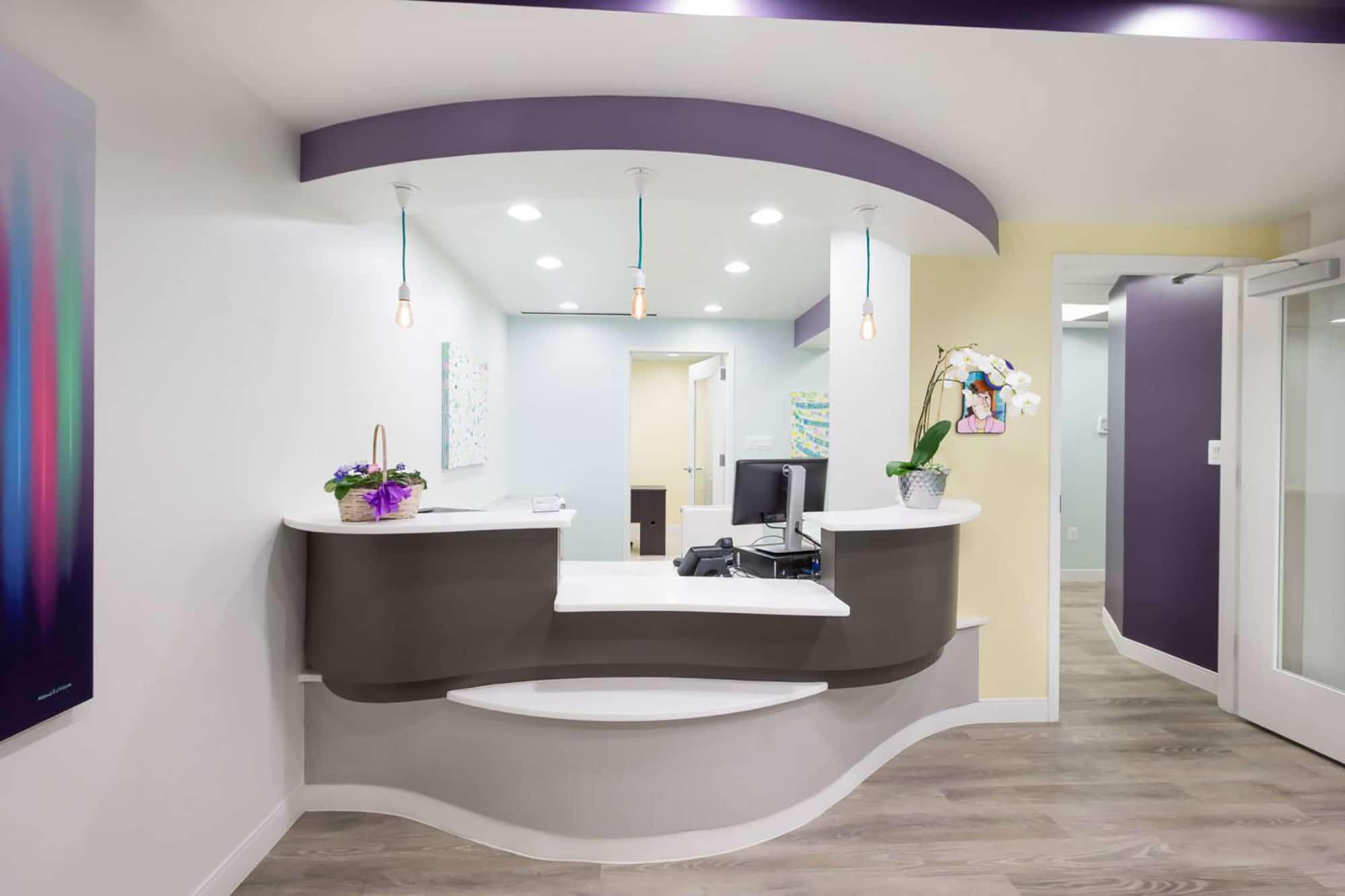 dental reception desk area